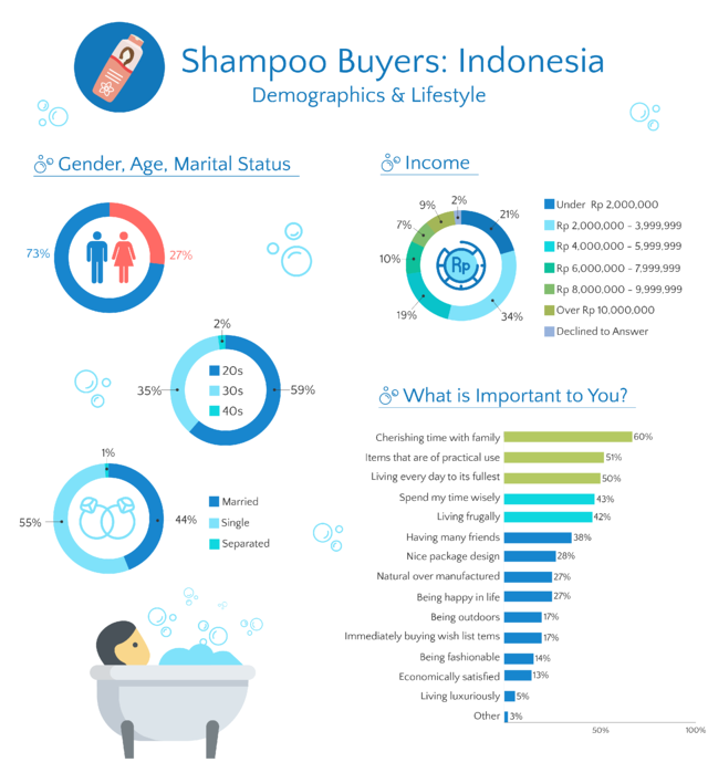 Shampoo Buyer Indonesia Demographic Infographic