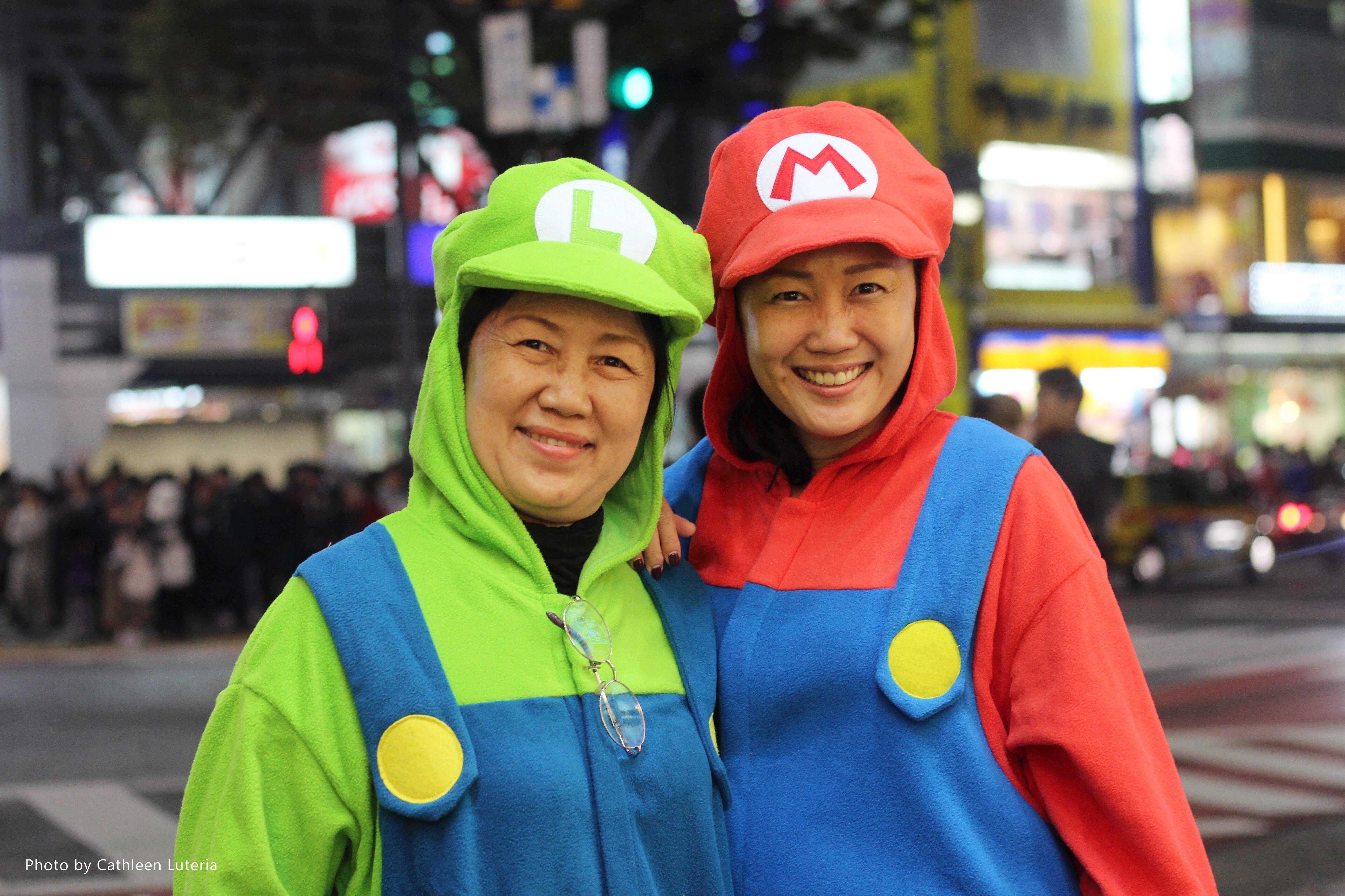 Tokyo's Halloween Revelry, Shibuya, Tokyo, Halloween, Super Mario, Luigi