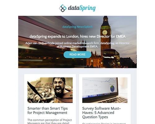 dataSpring Newsletter September 2016