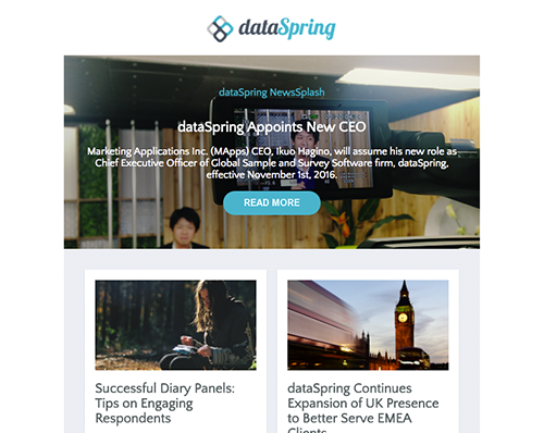 dataSpring Newsletter November 2016
