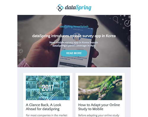 dataSpring Newsletter January 2017