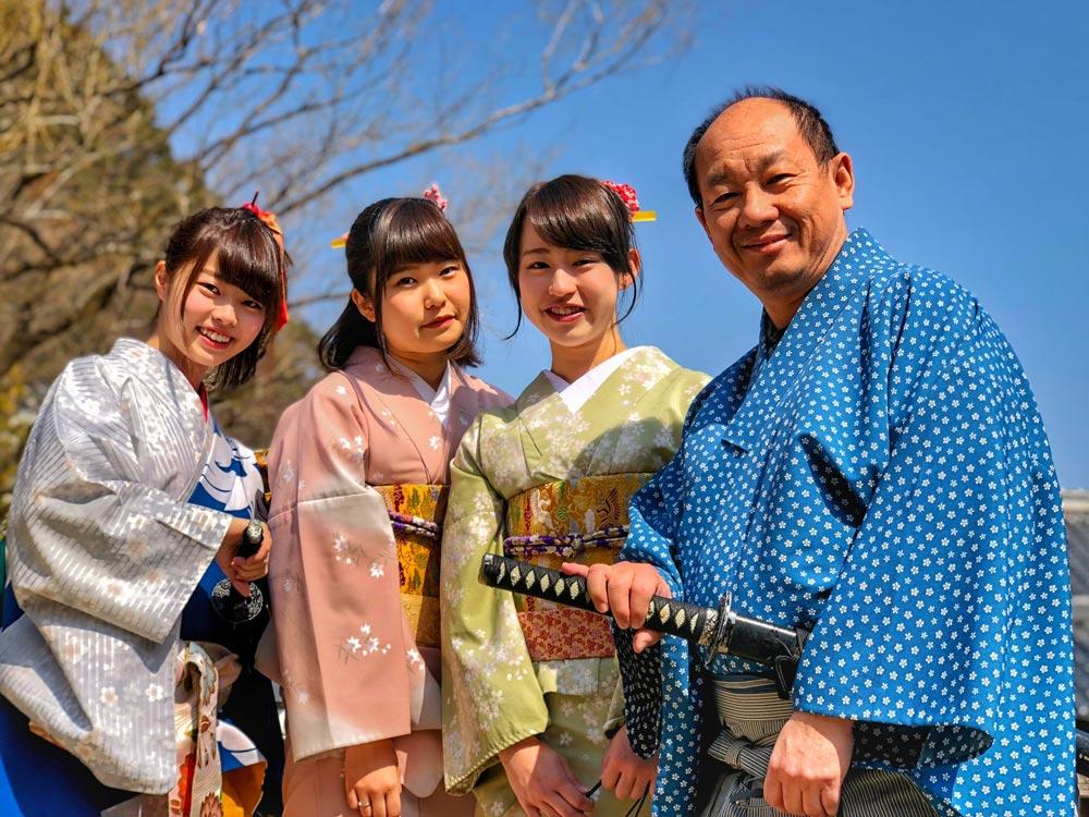 Japan kimono family traditional summer