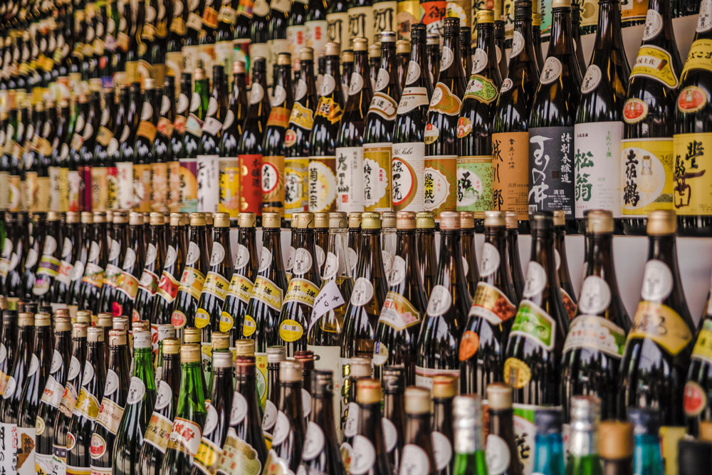 bottles, alcohol, Japan, sake, liquor
