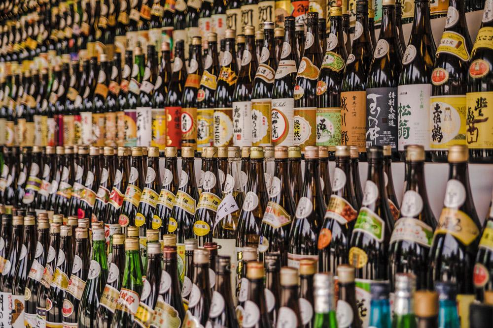 bottles, alcohol, Japan, sake, liquor