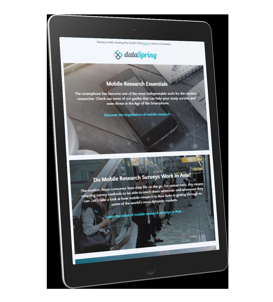 dataSpring newsletter cover
