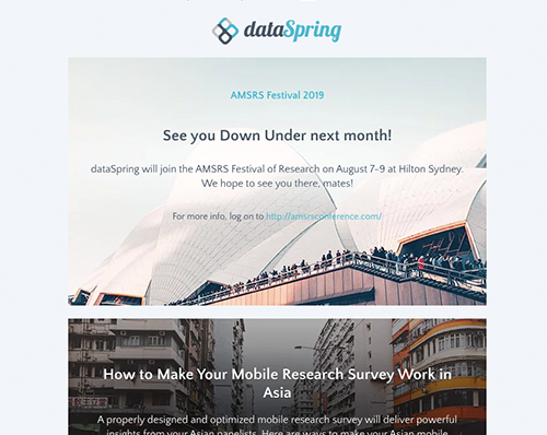 dataSpring Newsletter July 2019