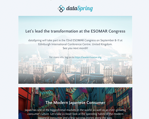dataSpring Newsletter August 2019