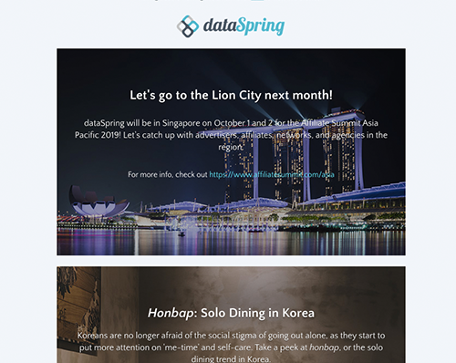 dataSpring Newsletter September 2019