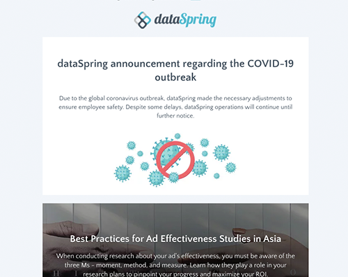dataSpring Newsletter March 2020