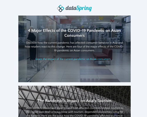dataSpring Newsletter April 2020